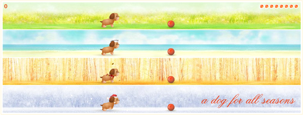 Jogo de cachorro - A dog for all seasons