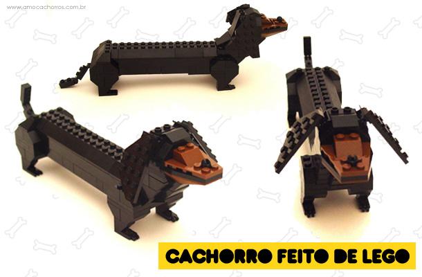 Cachorro feito de LEGO