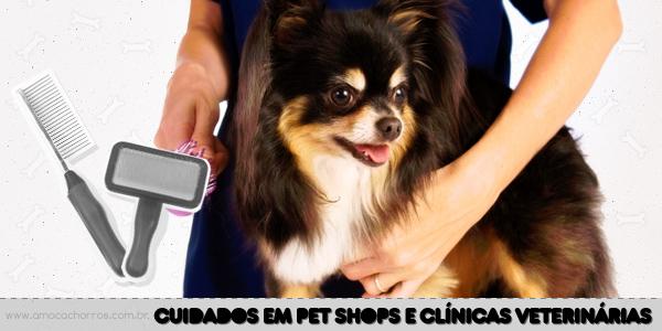 Cuidados em pet shop e clínicas veterinárias
