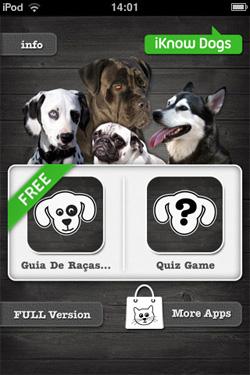 iKnow Dogs - Página Inicial do aplicativo - Versão Free