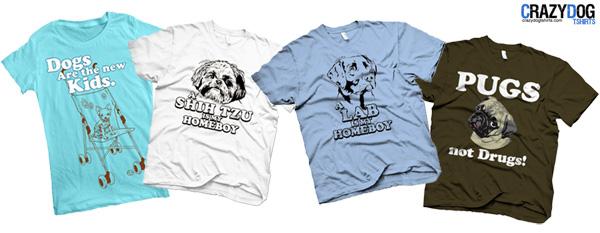 Camisetas com estampa de cachorros
