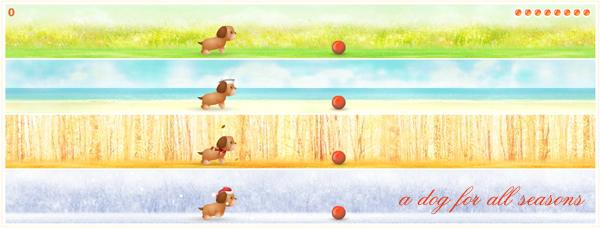 Jogo de cachorro - A dog for all seasons