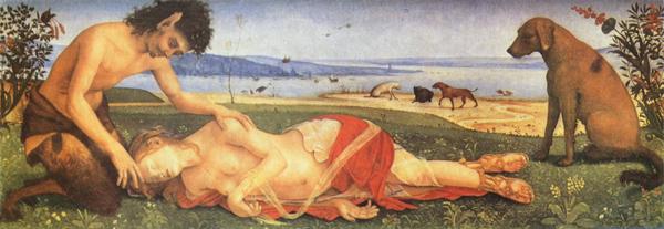 'Satyr Mourning Over a Nymph', de Piero di Cosimo (1495)