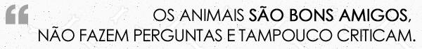 """""""Os  animais são bons amigos, não fazem perguntas e tampouco criticam."""" (George  Eliot)"""